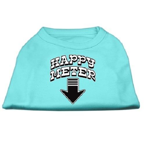 Happy Meter Screen Printed Dog Shirt - Aqua | The Pet Boutique