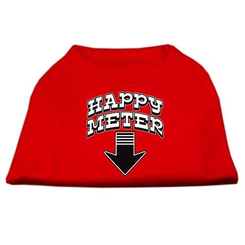 Happy Meter Screen Printed Dog Shirt - Red | The Pet Boutique