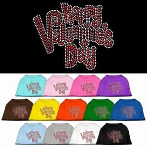 Happy Valentine's Day Rhinestone Dog Shirt | The Pet Boutique
