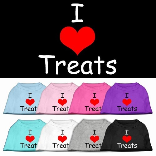 I Love Treats Screen Print Pet Shirt | The Pet Boutique