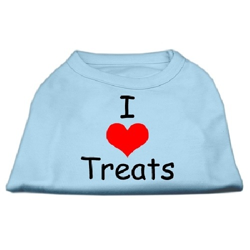 I Love Treats Screen Print Pet Shirt - Baby Blue | The Pet Boutique