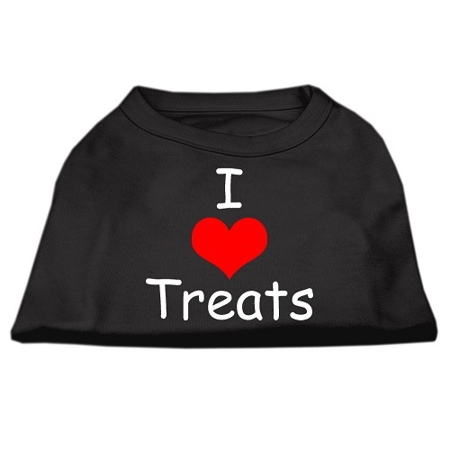 I Love Treats Screen Print Pet Shirt - Black | The Pet Boutique