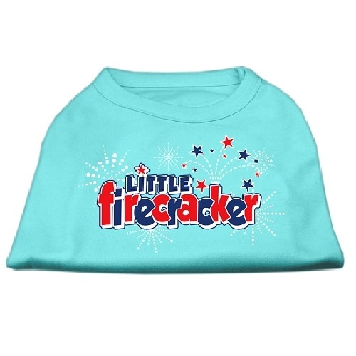 Little Firecracker Screen Print Pet Shirt - Aqua | The Pet Boutique