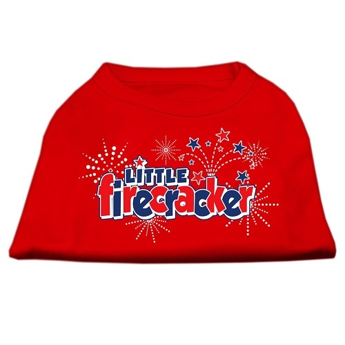 Little Firecracker Screen Print Pet Shirt - Red | The Pet Boutique