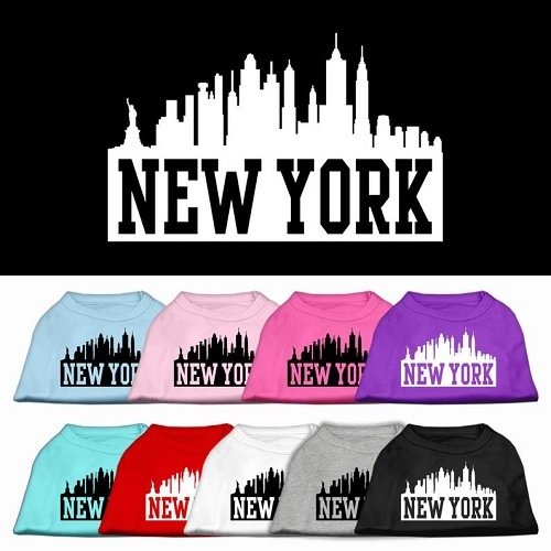 New York Skyline Screen Print Pet Shirt | The Pet Boutique