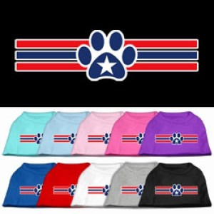 Patriotic Star Paw Screen Print Pet Shirt | The Pet Boutique