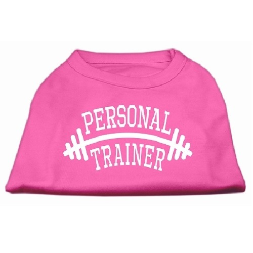 Personal Trainer Screen Print Pet Shirt - Bright Pink   The Pet Boutique