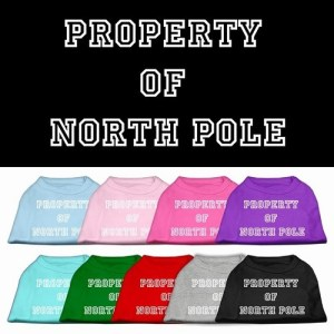 Property of North Pole Screen Print Pet Shirt | The Pet Boutique