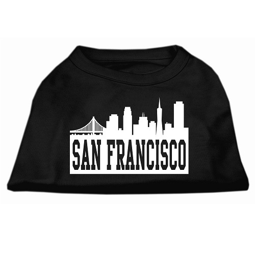 San Francisco Skyline Screen Print Pet Shirt - Black | The Pet Boutique