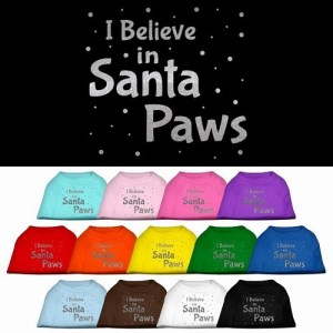 Santa Paws Screen Print Pet Shirt | The Pet Boutique