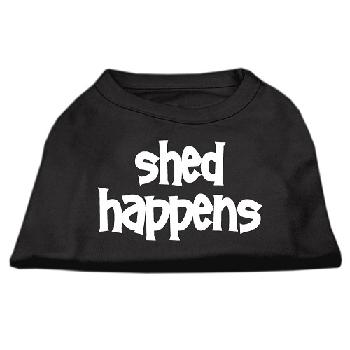 Shed Happens Screen Print Pet Shirt - Black | The Pet Boutique