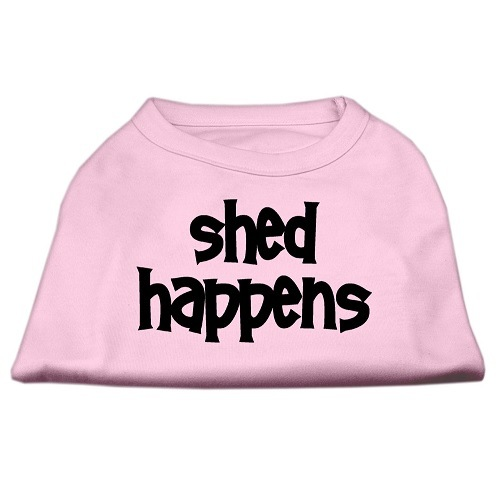 Shed Happens Screen Print Pet Shirt - Light Pink | The Pet Boutique