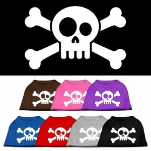 Skull and Crossbones Screen Print Pet Shirt | The Pet Boutique