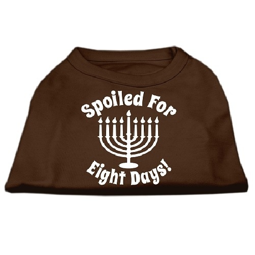 Spoiled for 8 Days Screen Print Dog Shirt - Brown   The Pet Boutique