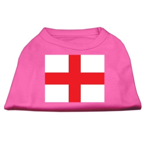 St. George's Cross (English Flag) Screen Print Pet Shirt - Bright Pink | The Pet Boutique
