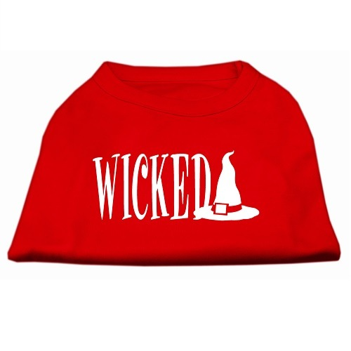 Wicked Screen Print Pet Shirt - Red | The Pet Boutique