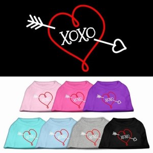 XOXO Screen Print Pet Shirt | The Pet Boutique