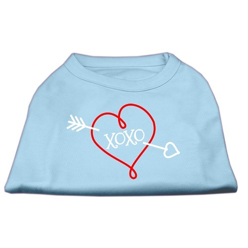 XOXO Screen Print Pet Shirt - Baby Blue | The Pet Boutique