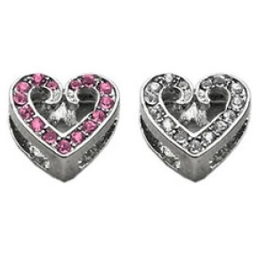 10mm Slider Scripty Heart Collar Charm | The Pet Boutique