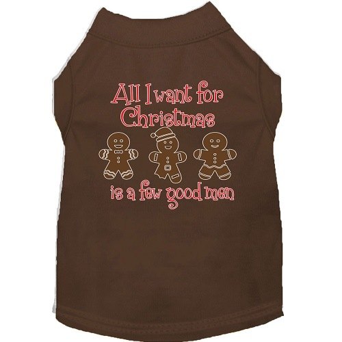All I Want Is A Few Good Men Screen Print Dog Shirt - Brown | The Pet Boutique