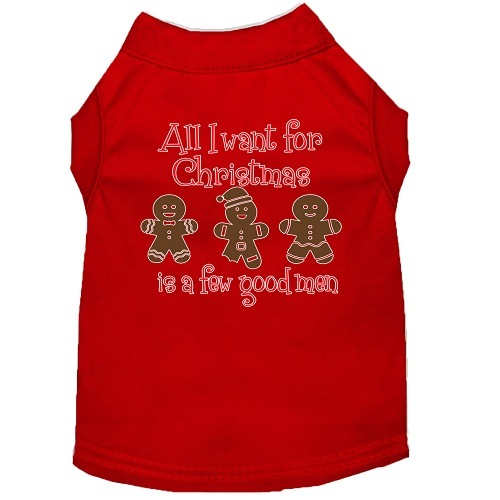 All I Want Is A Few Good Men Screen Print Dog Shirt - Red | The Pet Boutique