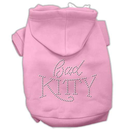 Bad Kitty Rhinestud Pet Hoodie - Pink | The Pet Boutique