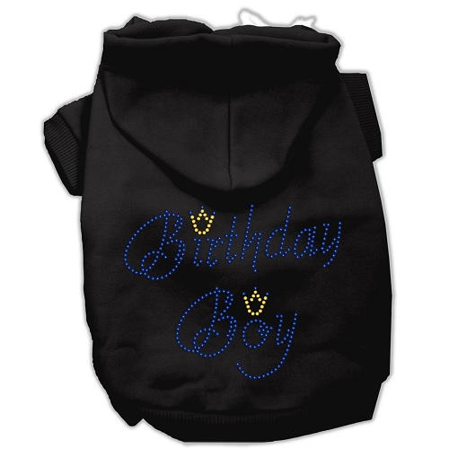 Birthday Boy Rhinestone Pet Hoodie - Black | The Pet Boutique