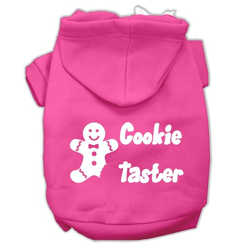 Cookie Taster Screen Print Pet Hoodie - Bright Pink | The Pet Boutique