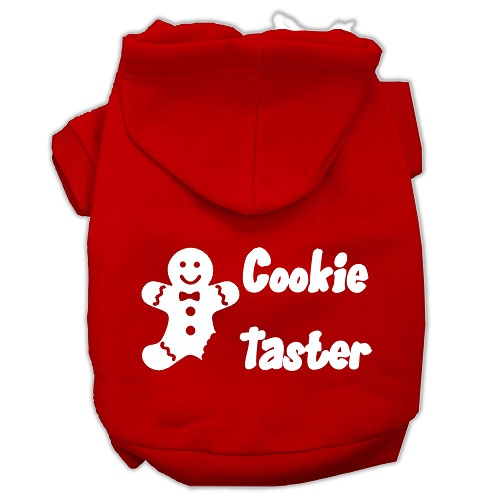 Cookie Taster Screen Print Pet Hoodie - Red | The Pet Boutique