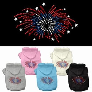 Fireworks Rhinestone Pet Hoodie | The Pet Boutique