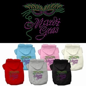Mardi Gras Rhinestud Pet Hoodie | The Pet Boutique