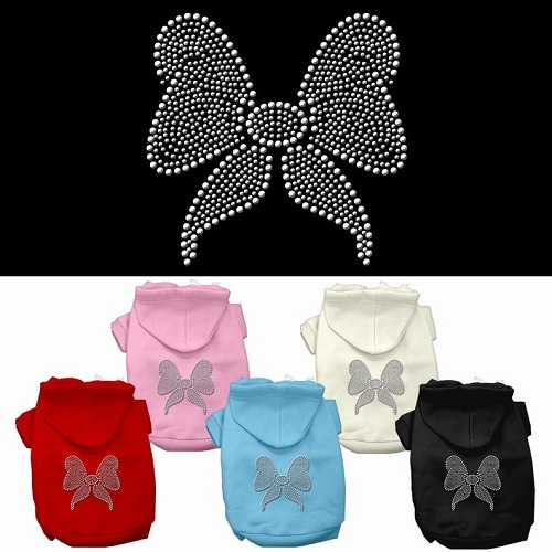 Rhinestone Bow Pet Hoodie | The Pet Boutique
