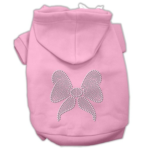 Rhinestone Bow Pet Hoodie - Pink | The Pet Boutique