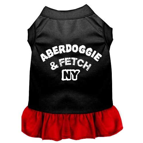 Aberdoggie NY Screen Print Pet Dress - Color Combo - Black with Red | The Pet Boutique