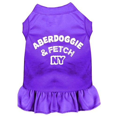 Aberdoggie NY Screen Print Pet Dress - Purple | The Pet Boutique