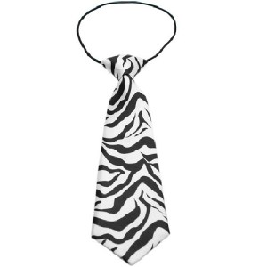 Big Dog Zebra Necktie | The Pet Boutique
