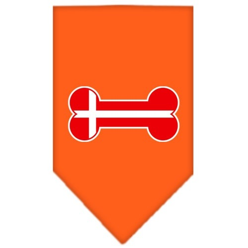 Bone Flag Denmark Screen Print Pet Bandana - Orange | The Pet Boutique