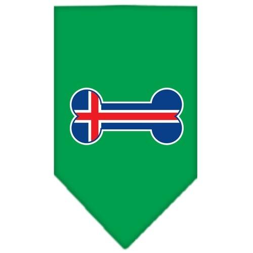 Bone Flag Iceland Screen Print Pet Bandana - Emerald Green   The Pet Boutique