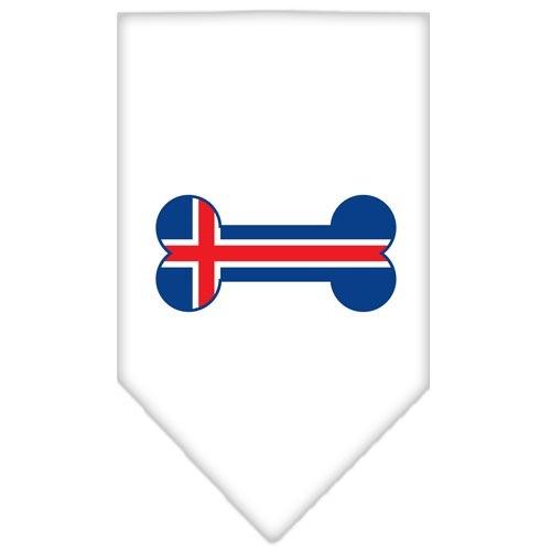 Bone Flag Iceland Screen Print Pet Bandana - White   The Pet Boutique