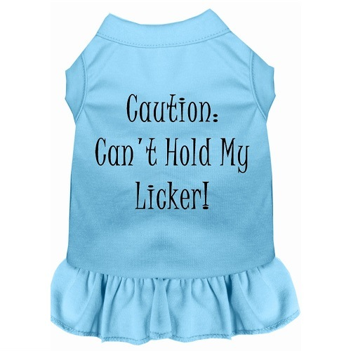 Can't Hold My Licker Screen Print Pet Dress - Baby Blue | The Pet Boutique