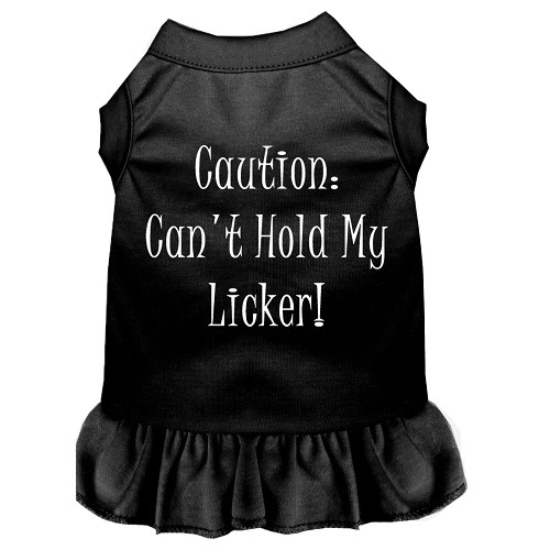 Can't Hold My Licker Screen Print Pet Dress - Black | The Pet Boutique