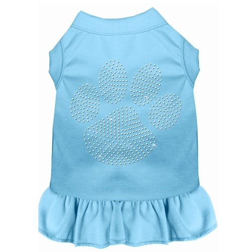 Clear Paw Rhinestone Pet Dress - Baby Blue   The Pet Boutique