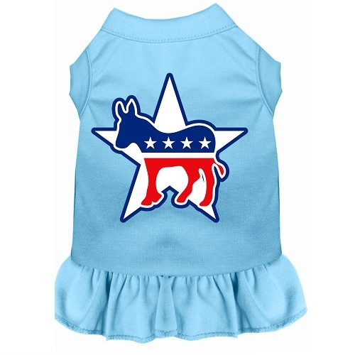 Democrat Screen Print Pet Dress - Baby Blue | The Pet Boutique