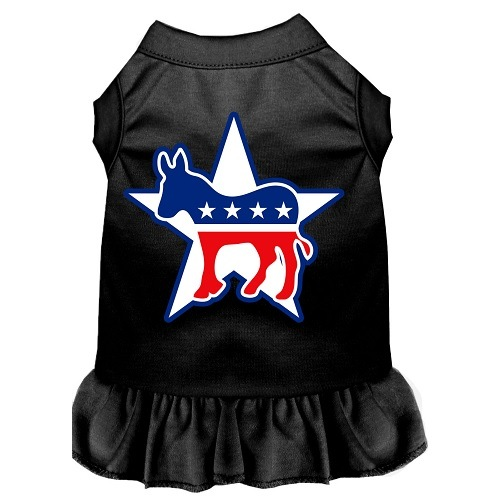 Democrat Screen Print Pet Dress - Black | The Pet Boutique