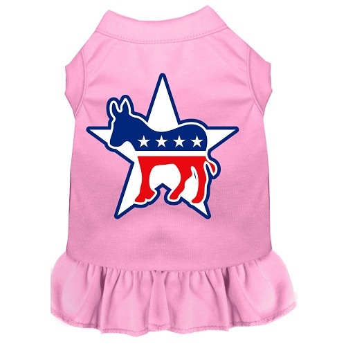 Democrat Screen Print Pet Dress - Light Pink | The Pet Boutique