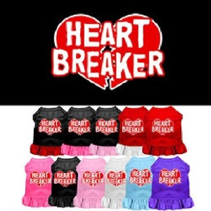 Heart Breaker Screen Print Pet Dress | The Pet Boutique