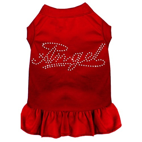 Rhinestone Angel Pet Dress - Red | The Pet Boutique