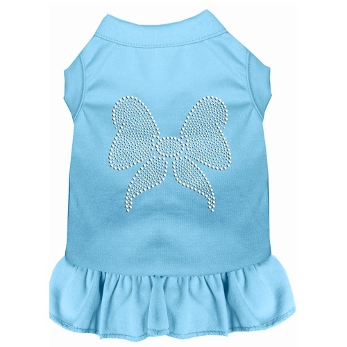 Rhinestone Bow Pet Dress - Baby Blue | The Pet Boutique