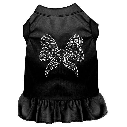 Rhinestone Bow Pet Dress - Black | The Pet Boutique