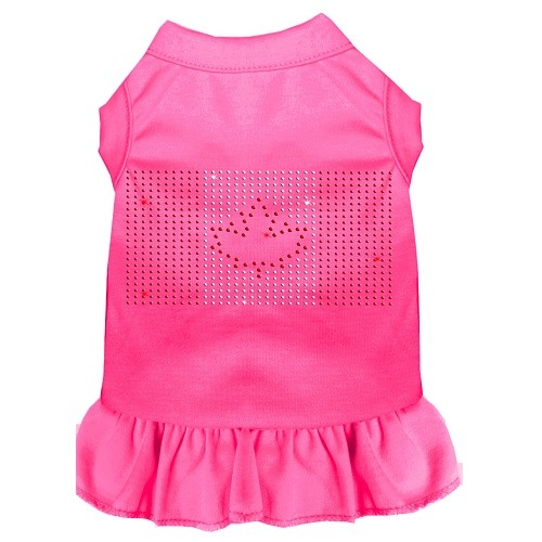 Rhinestone Canadian Flag Pet Dress - Bright Pink | The Pet Boutique